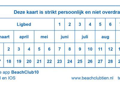 Beachclub 10 bonnenboek