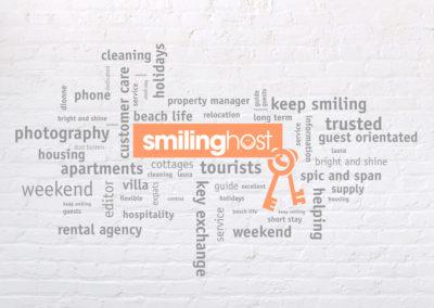 Wand teksten SmilingHost